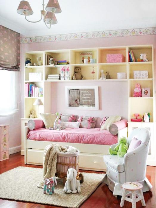 Dormitorio blanco y rosa de dormitorios infantiles com - Dormitorios infantiles blancos ...