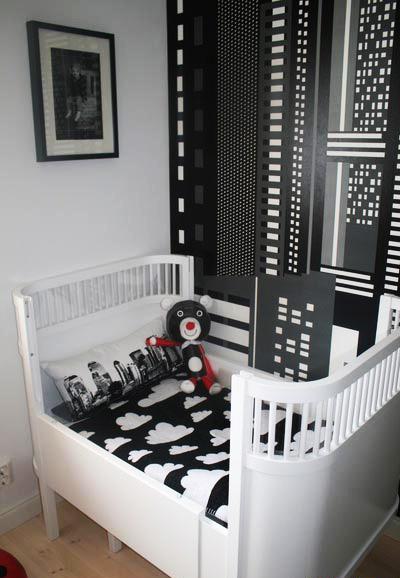 Dormitorio de bebes blanco y negro de dormitorios - Dormitorios infantiles blancos ...