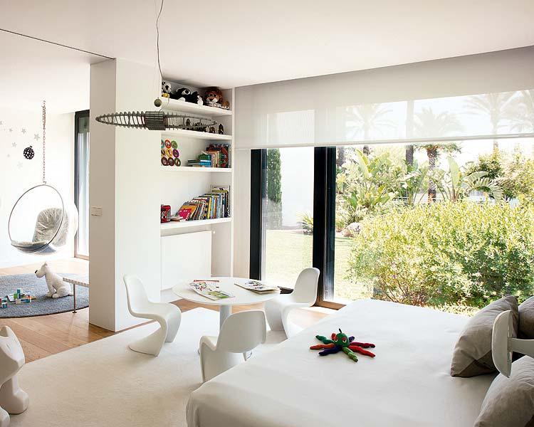 Dormitorios infantiles compartidos de color blanco de - Dormitorios infantiles blancos ...