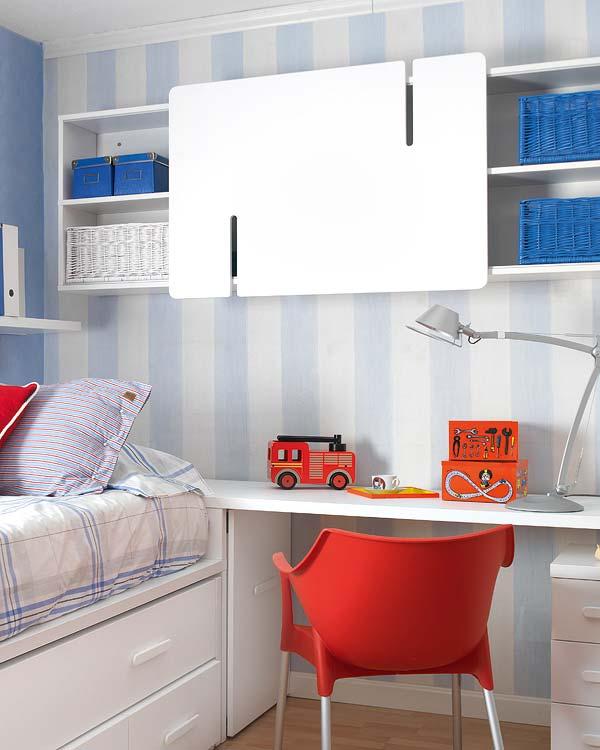Dormitorio infantil peque o pero funcional de - Dormitorios de nina en blanco ...