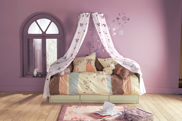 Decoración Baño Lila:Purple Kids Bedroom Ideas