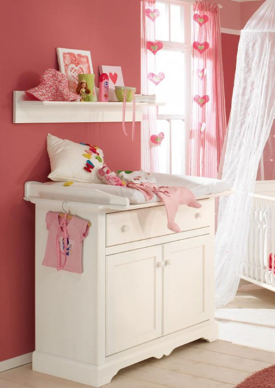 dormitorio rosa bebe niña