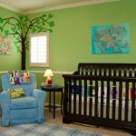 habitacion bebes verde
