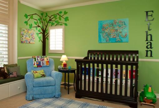 Dormitorios bebe verde dormitorios infantiles - Habitaciones infantiles verdes ...