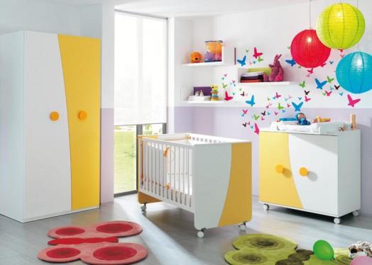 Cuarto colorido para bebes niñas – Dormitorios Infantiles