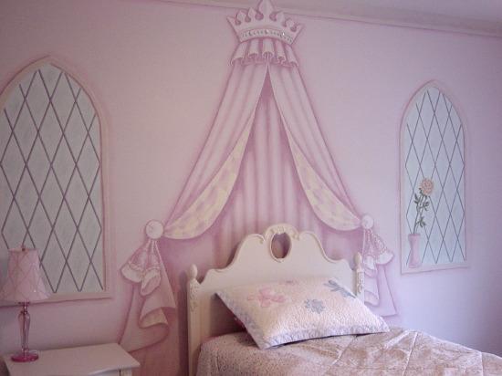 mural pared dormitorio niñas