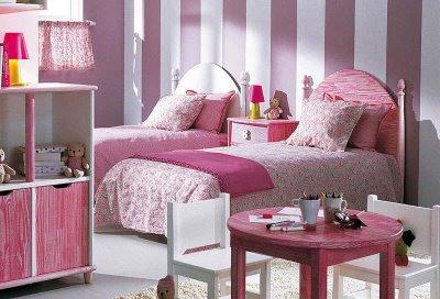 Dormitorio infantil en rosa dormitorios infantiles for Decoracion de la habitacion de nina rosa