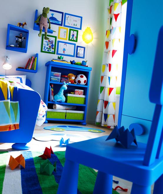 muebles infantiles azules