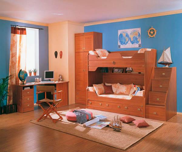 dormitorio infantil con cama loft