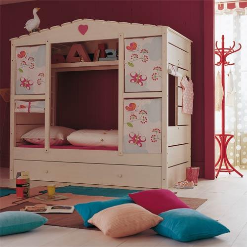 cama infantil de niña