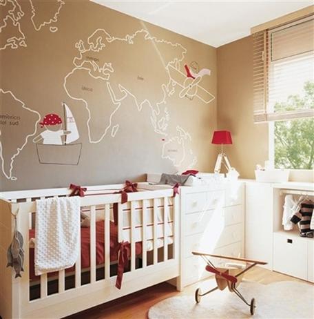 Habitacion de bebe beige y blanco | Dormitorios Infantiles