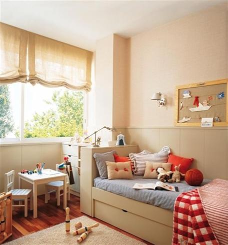 Dormitorio de ni o color beige dormitorios infantiles - Dormitorios infantiles nino ...