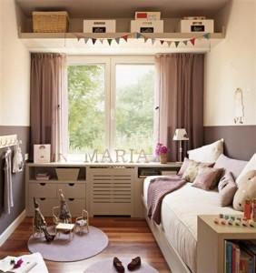 dormitorio niña gris lavanda