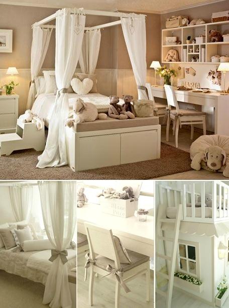dormitorio de niña marfil