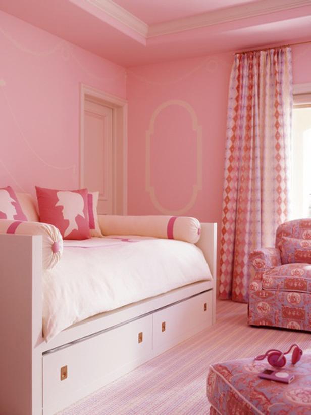 dormitorio de niña rosa